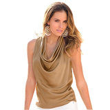 Summer Bow Neck Sleeveless Blouse - J20Style - 1