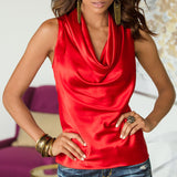 Summer Bow Neck Sleeveless Blouse - J20Style - 3