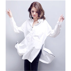 Casual Cotton White Shirt Blouse - J20Style - 1