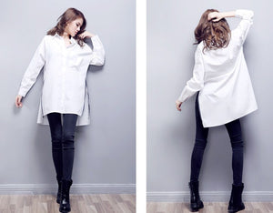 Casual Cotton White Shirt Blouse - J20Style - 4
