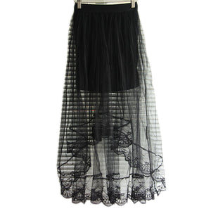 Summer Long Lace Section Jupe Tulle Skirt - J20Style - 5