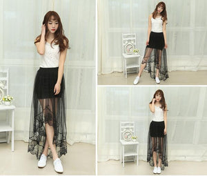 Summer Long Lace Section Jupe Tulle Skirt - J20Style - 2