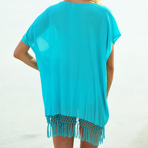 Summer Loose Batwing Short Sleeve Blouse - J20Style - 2