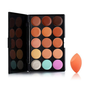 Concealer Make-Up Palette and Stonge Puff - J20Style - 3