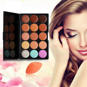 Concealer Make-Up Palette and Stonge Puff - J20Style - 2