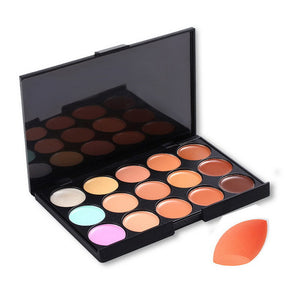 Concealer Make-Up Palette and Stonge Puff - J20Style - 4