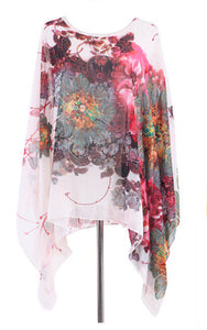 Summer Floral Pleated Retro Blouse - J20Style - 4