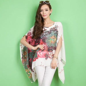 Summer Floral Pleated Retro Blouse - J20Style - 3
