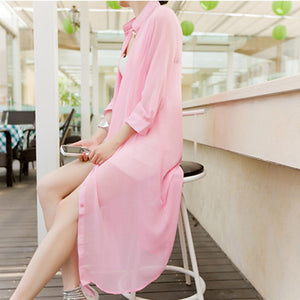 Summer Chiffon Loose Transparent Blouse - J20Style - 1