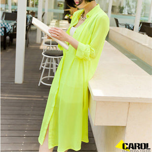 Summer Chiffon Loose Transparent Blouse - J20Style - 5