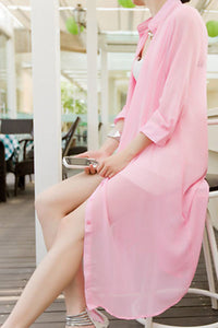 Summer Chiffon Loose Transparent Blouse - J20Style - 6