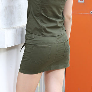 Summer Style Army Green Pocket Skirt - J20Style - 6