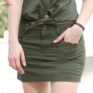 Summer Style Army Green Pocket Skirt - J20Style - 1