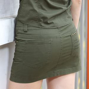 Summer Style Army Green Pocket Skirt - J20Style - 5