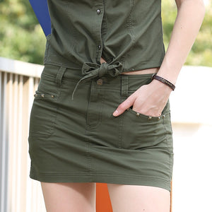 Summer Style Army Green Pocket Skirt - J20Style - 2