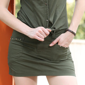 Summer Style Army Green Pocket Skirt - J20Style - 4