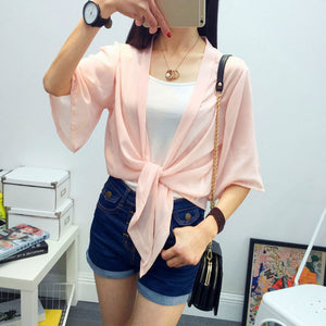 Summer Sun Protection Wraps Blouse - J20Style - 3