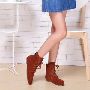 Fashion Designer Tide Female Casual Flat Ankle Boots
