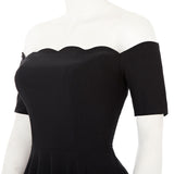 Off Shoulder Retro Rockbilly Swing Party Dress