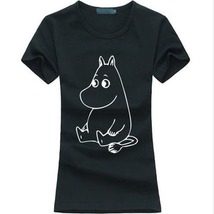 Cartoon Print Funny Cotton Casual T-Shirt