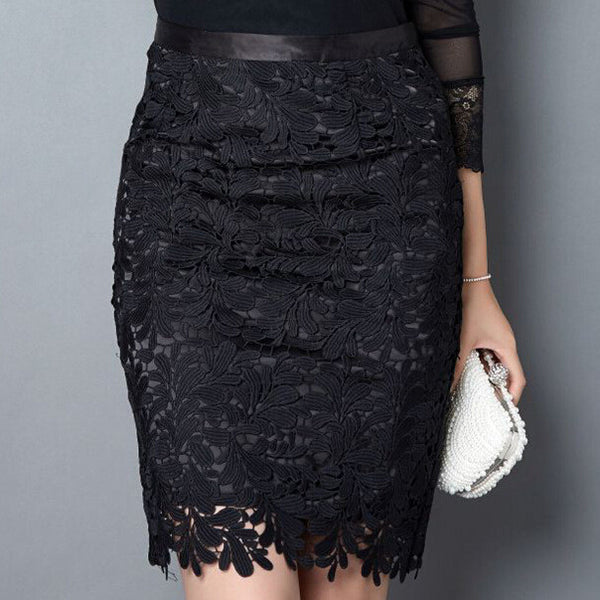 Black High Waist Midi Skirt - J20Style - 1