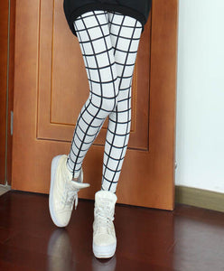Slim Plaid Printed Pencil Pants - J20Style - 1