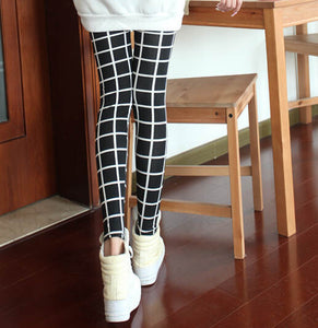 Slim Plaid Printed Pencil Pants - J20Style - 6