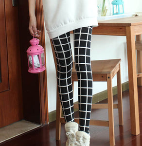 Slim Plaid Printed Pencil Pants - J20Style - 2