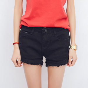 Korean Cotton High Waist Shorts - J20Style - 1