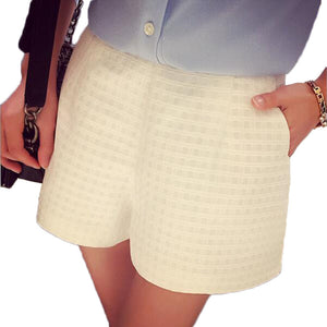 Summer High Waist Plaid Short - J20Style - 3