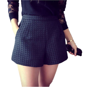 Summer High Waist Plaid Short - J20Style - 1