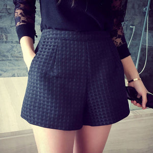Summer High Waist Plaid Short - J20Style - 2