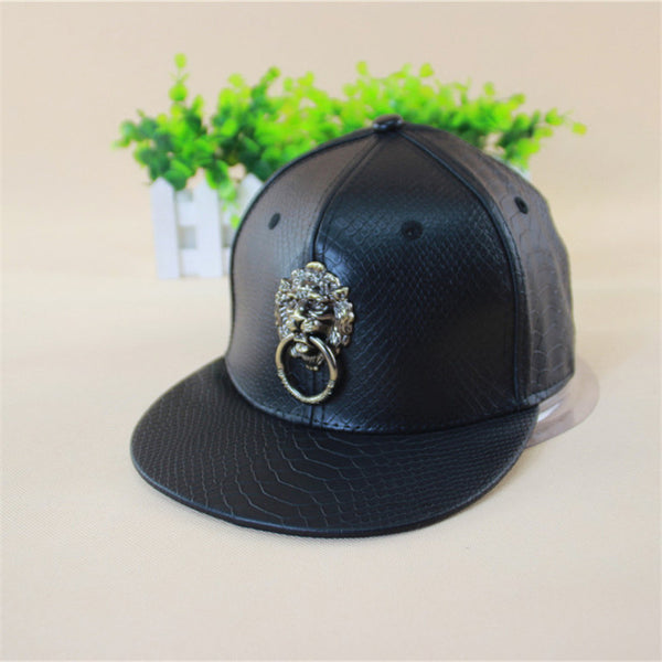 LPU Leather Hip Hop Snapback Cap - J20Style - 1