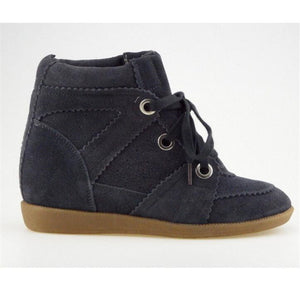 Bobby Wedges Genuine Leather Height Increasing Ankle Boot
