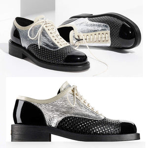 Luxury Genuine Leather Sport Shoes with Round Toe