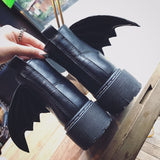 Detachable Wings Punk Style Motorcycle Boot