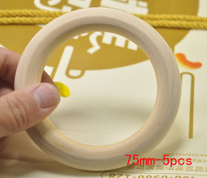 25-75mm Fine Quality Natural Wooden Teething Beads