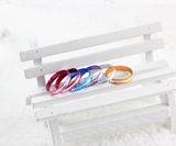 Silver Plated Colorful Aluminium Coin Rings - J20Style - 2