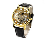 Classic Men's Gold Dial Skeleton Sport Army Wrist Watch - J20Style - 2