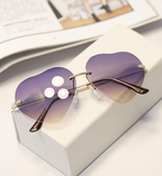 Heart Shaped Metal Frame Sunglasses - J20Style - 1