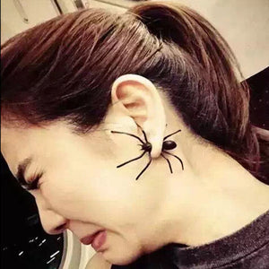 Punk And Funny Black Spider Stud Earrings - J20Style - 1