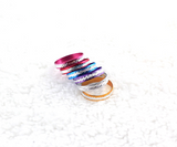 Silver Plated Colorful Aluminium Coin Rings - J20Style - 3