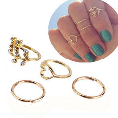 4PCS/Set Rings Urban Gold Plated Crystal - J20Style - 2