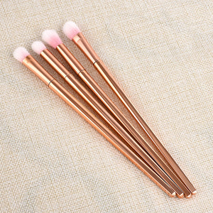 4pcs Different Size Nylon/Plastic Makeup Brushes Set