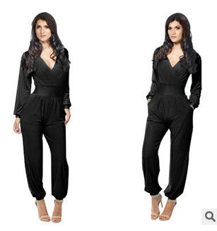 Elegant Long Sleeve Bodysuit with Pockets - J20Style - 2
