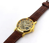 Classic Men's Gold Dial Skeleton Sport Army Wrist Watch - J20Style - 5