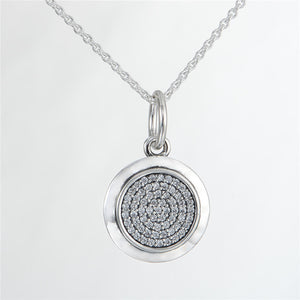 68CM Chain Pave Clear CZ Pendant Necklace