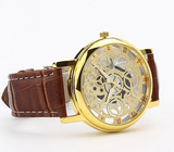 Classic Men's Gold Dial Skeleton Sport Army Wrist Watch - J20Style - 6