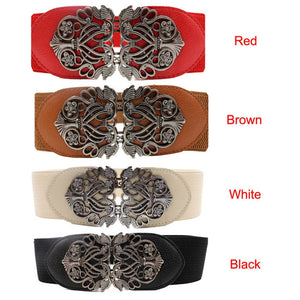 Elastic Belt with Alloy Flower - J20Style - 6