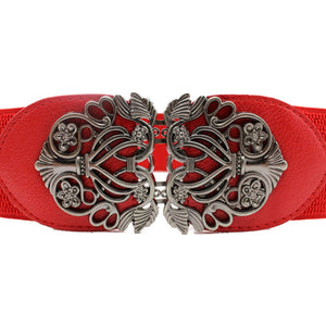 Elastic Belt with Alloy Flower - J20Style - 2
